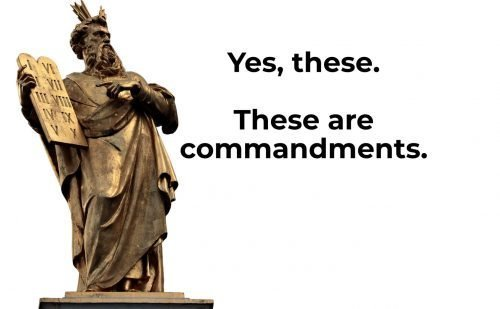 what are commandments