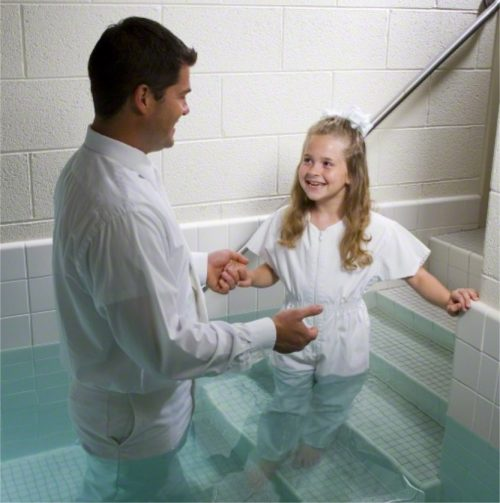 baptism at age eight
