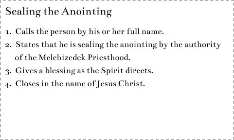 Seal Anointing